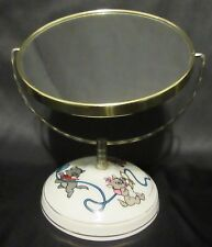 Vintage Walt Disney Productions Disneyland The Aristocats Vanity Mirror Ceramic