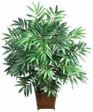 Tropical Bamboo Palm w/ Wood Pot Artifical Plant Decor Spa Home Office NEW