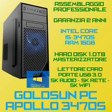 COMPUTER ASSEMBLATO PC FISSO INTEL Core i5-3470S RAM 16GB HDD 1TB DVD-RW USB3.0
