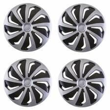 4 x Premium Radkappen Radzierblenden 15 Zoll Wind schwarz silber für Auto KFZ