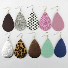 2018 Boho PU Leather Teardrop Dangle Statement Earrings Trendy Jewelry for Women