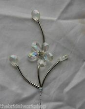 6 Stems Crystal Beaded Wedding Flowers Bouquet Buttonholes Bridal Corsages