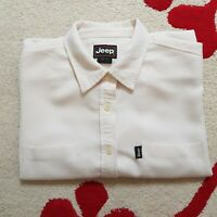 Jeep Men's Cream Long Sleeve Shirt L Large Official Merchandise Soft Touch