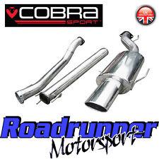 """VZ02h COBRA Astra Turbo Coupe MK4 Sistema di scarico 3"""" INOX Cat Indietro Non Res"""