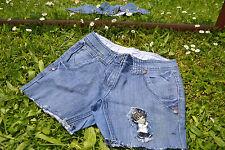 Dorothy Perkins Vtg Style Custom Hot Pants Jeans Shorts sz 6/8 Fit Big M36