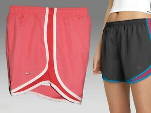 NIKE Ladies DriFit Stay Cool Running Athletic Shorts Pink (Red & White) Small