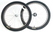 "24"" Coaster Brake Wheelset + Tires Kids Single Speed Cruiser Bike 3/8"" Axle NEW"