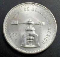 1980 Mexico 1 Troy Oz Silver Onza Plata Pura Mexican Mint Pre Libertad Coin
