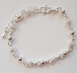 Kids Children Girls Sterling Silver Ankle Chain/ Ankle Bracelet/Anklet 16 Design