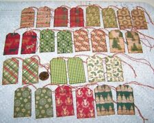 Christmas~Rustic~Tree~Wre ath~Wood~Farmhouse~Linen Cardstock~Gift~Hang~Tags