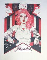 Blondie t-shirt women punk rock goth merch design top alternative CBGB