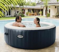 "NEW Intex PureSpa Round 4 Person Bubble Massage  77"" Inflatable Hot Tub"