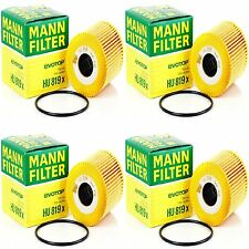 4 Pack VOLVO ENGINE OIL FILTER MANN-FILTER HU 819 X OEM