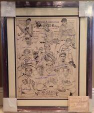 AUTHENTICATED L/E LITHOGRAPH NEGRO LEAGUES '93 12 AUTOGRAPHS BASEBALL BIN POSTER