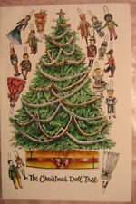 Artist Signed Dedicated Peggy Jo Rosamond The Christmas Doll Tree Card Paper