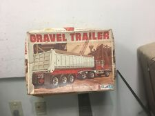 Vintage General Mills Travel Trailer Gravel Truck 1/25 scale model kit