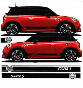 BMW Mini Cooper S Side stripes Decals Stickers Graphics any colour