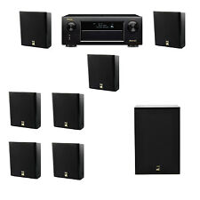 M&K Sound MP150II Wall Mounted Loudspeaker 7.1 X12 Denon AVR-X5200W