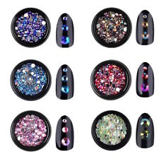 1 box Brillantini-Nail Art STRASS GLITTER-5/4/3/2mm-Decorazione Unghie DIY !!!