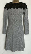 Dorothy Perkins Sample Grey Marl Soft Touch Lace Detail Stretch Dress Size 10