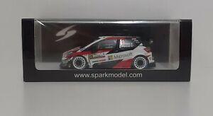 Model Car Diecast Scale 1:43 Spark Toyota Yaris WRC Ogier Rally Monza 2020