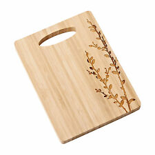 Department 56 ~ Forest Lane Pussy Willow Bamboo Cheeseboard Cutting Board