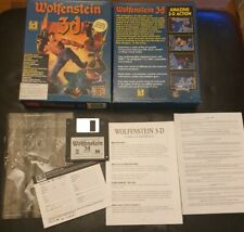 Retro/1990's PC DOS 3.5 FLOPPY Big Box game.  WOLFENSTEIN 3D **VGC**