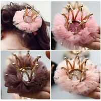 Fashion Baby Kids Girls Hairpin Crown Hair Clip Princess  Hair Accessories Gift