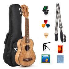 More details for soprano ukulele 21 inch ukelele for beginner kit classical type tiger flame