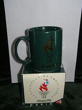 1996 ATLANTA OLYMPIC Coffee  Mug  Green with Gold Design