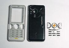 Silver black Housing fascia facia cover case faceplate for Sony Ericsson w610