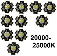 10x Hi-Power LED 3W Kaltweiß STAR 20000-25000K  200-230lm
