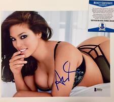 Sports Illustrated SI Model ASHLEY GRAHAM Signed 8x10 Photo BAS Beckett COA (d)