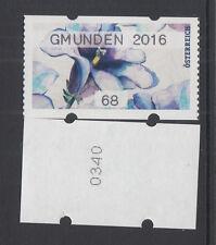 Österreich, postfr. **, AWZ,ATM,68 C,25.08.2016,blau, Gmunden 2016; NR-0340