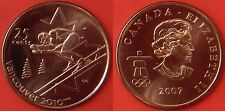 Brilliant Uncirculated 2007 Canada Alpine Skiing 25 Cents From Mint's Roll