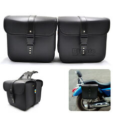 2x Universal Motorcycle Saddle Bags Sanddlebag Side Storage Pouches For Harley