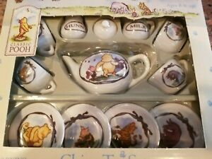 NEW CLASSIC WINNIE the POOH Schylling 12 Piece China Tea Set