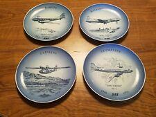 RARE Lot of 4 Bing & Grondahl Copenhagen 1976,77,78,79 Danish Aviation Plates