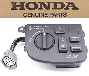 Headlight Preload Adjust Switch 06-10 GL1800 Goldwing Honda Level Nob Hazard D25