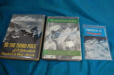 3 books on Mountaineering Trekking Guide Nepal To the Third Pole Mountain 1956