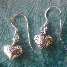 Pretty Heart Thai Karen hilltribe Earring 97.5-99% Silver