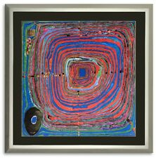 Bild Kunstdruck Friedensreich Hundertwasser der grosse Weg mit Rahmen -39% SALE