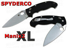 Spyderco Manix2 XL Extra Large Folding Knife Plain Edge C95GP2 **NEW**