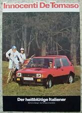 DE TOMASO INNOCENTI Car Sales Specification Sheet 1979 GERMAN TEXT