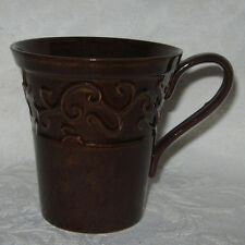 Classic Renditions BAROQUE SCROLL CHOCOLATE Mug (s) Brown