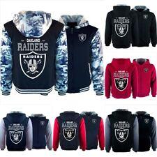 Oakland Raiders Thicken Hoodies Fleece Sweatshirts Hooded Winter Warm Jacket Top