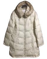 LAUNDRY by SHELLI SEGAL Sz XL UK 20 Down Coat Padded Puffer Winter Walk Outdoor