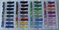 64 PIECE COLOUR COTTON / POLYESTER SEWING MACHINE THREAD AND BOBBINS SET - NEW