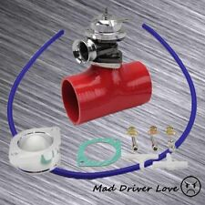 """SILVER BOV BLOW OFF VALVE 30PSI+2.5"""" SILICONE ADAPTER KIT UNIVERSAL FOR 240SX"""