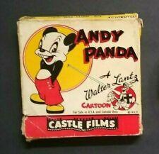 """ANDY PANDA"" WALTER LANTZ"" CARTOON 8MM  CASTLE FILMS 475 LARGE 200 FT COMPLETE"